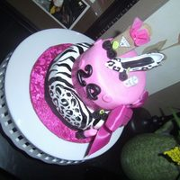 Girly Animal Print Cake