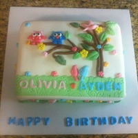 Look Whoo's Turning One   owl cake