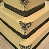 Buttercream Butterfly Wedding Cake   All Buttercream Icing wedding cake with a butterfly theme