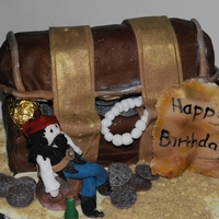 Pirate Themed Cake treasure chest pirate themed cake inpired from pirates of the carribean