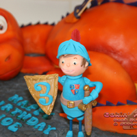 Mike The Knight Themed Cake The Body And Hind Legs Of The Dragon Are Vanilla Sponge Head Tail And Front Legs Are Made Using Rice Krispie Mike the Knight themed cake - The body and hind legs of the dragon are vanilla sponge. Head, tail and front legs are made using Rice...