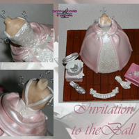 Invitation To The Ball All edible elements except the wires in the mannequin. The cake is dowelled for stability. Vanilla sponge layered with buttercream and...