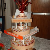 Little Ceasers Pizza This cake was done as a joke for my cousin and his bride. They met while they were both working at Little Ceasers. You can eat the entire...
