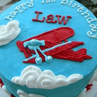Airplane Birthday A vintage inspired airplane cake for a first birthday.