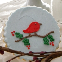 Christmas Bird I paired these with my snowflake cookies for teacher gift boxes.