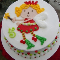 Christmas Fairy Cake This is for a little one turning 5