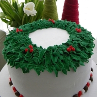 Holly Cake For Christmas