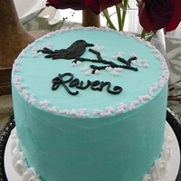 Raven's Birthday Cake A very non-Christmas cake for a girl that has a birthday on the eve of Christmas eve.