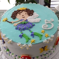 Fairy Cake For Adelaide This 5 yr old loves the color purple, anything that sparkles and of course, fairies.
