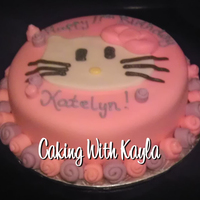 Hello Kitty Cake   Hello Kitty birthday cake decorated with MMF.