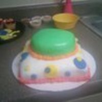 "Push Pop Cake I made this cake for a First year old's Birthday, the theme was Elmo, but when I asked my mother what it looked like she said a ""..."