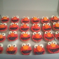 Elmo Cupcakes First time!! It was a little time consuming, but it was really fun!