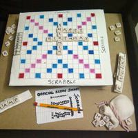 Scrabble Cake For A Scrabble Champ Scrabble Board Tiles Score Card Pencil Pouch Are Made Of Sugarpaste The Board Sits Scrabble Cake for a scrabble champ! ........... scrabble board, tiles, score card, pencil, pouch are made of sugarpaste..... the board sits...