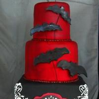Goth Birthday Cake My take on Wilton's design.