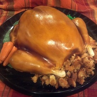 Roast Turkey Cake I follwed the thread on here, but coered it in fondant. TFL!!