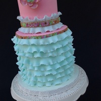 "Summery Blue Sharing with y'all this ""Summery Blue"" cake I created for my Madeleine's 6th y.o. birthday which..."