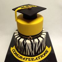A Graduation Cake I Made For A Young Lady Who Graduated From High School Back In April 2013 The Zebra Stripes On The Bottom Tier Was All F... A graduation cake I made for a young lady who graduated from high school back in April, 2013. The Zebra stripes on the bottom tier was all...