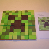 Creeper Cookie Puzzle Creeper is made from 25 individual cookies. The child who this was made for enjoys puzzles and prefers cookies over cake so what better way...