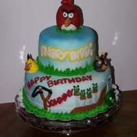 Angry Birds All decorations made from fondant