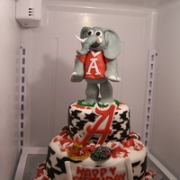 Big Al, Alabama Cake Big Al was made from rice krispies covered in fondant.. everything else covered in fondant. strawberry cake with cream cheese icing! Still...