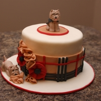 Burberry Dogs  I was asked to make a cake for an owner of two Cairn Terriers. She wanted one of the terriers (the female) to be wearing a Burberry coat. I...