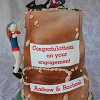 Rock Climbing Engagement Cake This cake was made to celebrate the engagement of a female police officer (in her uniform on top of the cake) and her fiancé,...