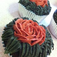 Rose Garden Cakes I made these cupcakes trying to practice buttercream roses :) The green was a little too dark for the leaves and made everyone's...