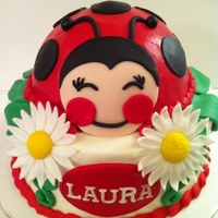 Happy Ladybug inspired totally by cakes by kerrin.. different body but same expression. hers is much better