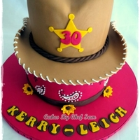 Cow Girl Hat Birthday Cake
