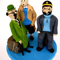 Tintin, Captain Haddock And Professor