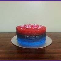 Red & Blue Ombre Cake Trying out the obre effect with buttercream i had left over.