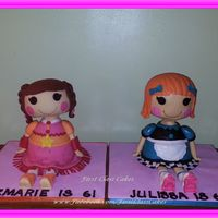 3D Lalaloopsy Dolls Cake Prairie Dusty Trails & Pickle B.L.T. Lalaloopsy Dolls 3D cakes I made for my twins bday! Red Velvet cake w/chocolate buttercream &...