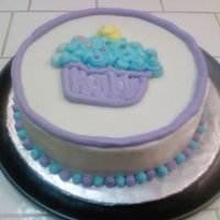 Cupcake Cake From Wilton Class This was the first cake for level 1 of the Wilton classes. I got the BC very smooth, but ran out of class time to do much decorating. Its...