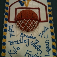 Basketball Cake This is made with all BC. The basketball is made with the Wilton sports ball pan.