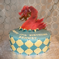 Birthday Cake Dragon made with gumpaste