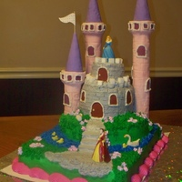 Princess Castle Cake Princess Cake with Castle, Moat and Towers