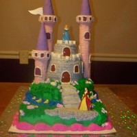 Princess Birthday Cake Front of Princess Birthday Cake