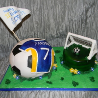 Soccer Cake The small cake was gluten free for the birthday girl. She was so excited to be able to eat cake for her birthday!! I don't have a &...