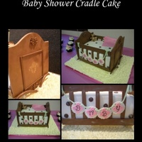 Cradle Cake Thanks to McGreevy Cakes Tutorial on Youtube. A fun cake to put together!