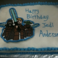 Star Wars Cake This is a Star Wars cake I did for a friend's little boy. This is a FBCT on an 11X15 cake WASC cake. TFL