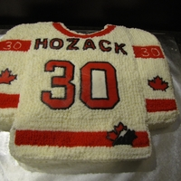 Team Canada 30Th Birthday Cake This is a Team Canada jersey 30th birthday cake I made for a client. The maple leaf, hockey canada, name and number done as a FBCT. WASC...