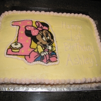 Minnie Mouse 1St Birthday Cake This is the cake I just finished for my daughter's first birthday. It was the first time I have done a FBCT- a few flaws but I'm...