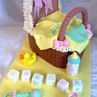 Completely Edible White Velvet Cake With Lemon Curd Filling Bassinet Covered In Buttercream Basket Weave With Fondant And Gumpaste Detail Completely edible. White velvet cake with lemon curd filling. Bassinet covered in buttercream basket weave, with fondant and gumpaste...
