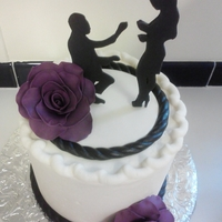 Plum Engagement Cake