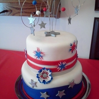 4Th Of July Firework Cake
