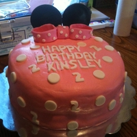 Mini Mouse Birthday Cake Buttercream Icing with MMF Accents
