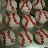 Baseball Cupcakes All buttercream icing