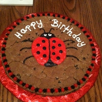 Lady Bug Cookie Cake Cookie Cake