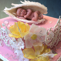 The Flowers Are Wafer Paper Baby Is Made From Marzipan the flowers are wafer paper. baby is made from marzipan