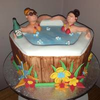 Hawiian Themed Hot Tub *loved maing this cake